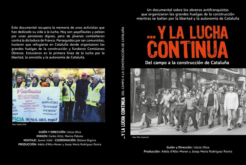Caratula del dvd, manifestacion de obreros antes y ahora